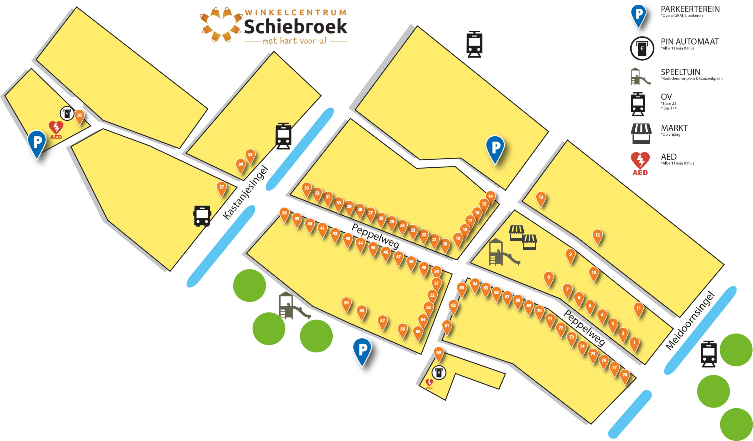 Plattegrond WC Schiebroek